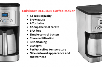 Cuisinart DCC-3400 Review with Comparison and Info