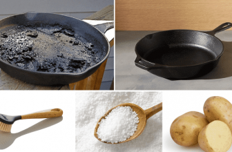 How to Clean a Cast Iron Skillet with Burnt on?